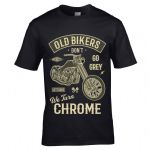 Premium Funny Old Bikers Don't go Grey We Turn Chrome Slogan Birthday gift men's t-shirt top